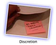 DISCRETION: This party game works really well for a dinner party. It encourages conversation, helps break the ice, and is hilarious.  GET READY  Get som...
