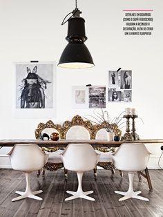 black and white + gold #decor #pretoebranco #golden