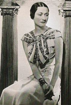 "Wallis Simpson (Bessie Wallis Warfield-Spencer-Simpson) USA wife of King Edward VIII ""David"" (Edward Albert Christian George Andrew Patrick David) Prince of Wales UK, Duke & Duchess of Windsor: Wallis Simpson, Edward Albert, Edward Viii, Queen Mary, King Queen, Queen Elizabeth, Tudor Rose, Elisabeth, Mode Chic"
