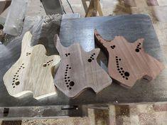 "@valravnguitars posted on Instagram: ""Limba/black walnut/mahogany bodies. All 8 strings😋#guitar #wood #8string #djent #metal #cncmachining"" • Jul 21, 2020 at 3:36pm UTC Cnc Machine, Guitar, Metal, Guitars"