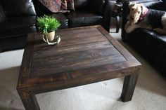 Rustic Pallet Coffee Table | Pallet Furniture DIY