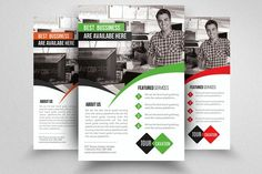 Computer Repair Flyer Template  by Business Flyers on @creativemarket