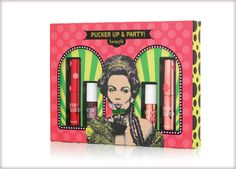 pucker up & party cheek & lip balm collection