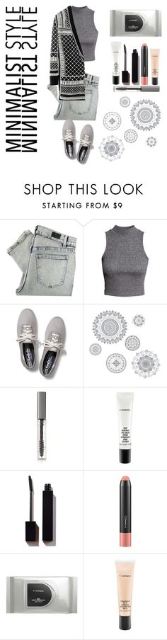 """""""M.S' G R E Y"""" by xsimiix ❤ liked on Polyvore featuring Cheap Monday, H&M, Keds, WallPops, BBrowBar, MAC Cosmetics and Serge Lutens"""