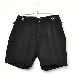 02DERIV. / Loose Shorts Woolen Flannel