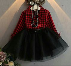 Black and red plaid. Black tutu.  Gosh I hope I have a girl! Toddler Girl Style, Toddler Girl Pictures, Toddler Girl Outfits, Toddler Dress, Toddler Girls, Flannel Dress, Plaid Dress, Girls Tutu Dresses, Tutus For Girls