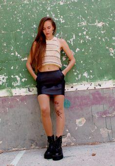 Leather Skirt, Tights, Skirts, Summer, Fashion, Urban, Women, Navy Tights, Moda