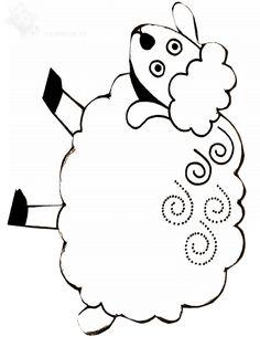 Nursery Rhyme Theme, Nursery Rhymes, Farm Animals, Animals And Pets, Sheep Drawing, Baa Baa Black Sheep, Spring Animals, Connect The Dots, Pre Writing
