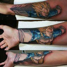 Super awesome tattoo! #dragonballz #vegeta #tattoo