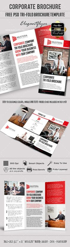Modern Business Tri Fold Brochure Free Psd Template Httpswww