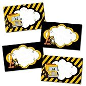 Construction Theme Buffet Table Labels/Cards