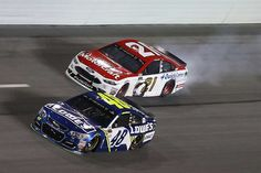 At-track photos: Thursday, Daytona  Friday, February 24, 2017  Ryan Blaney, driver of the No. 21 Motorcraft/Quick Lane Tire & Auto Center Ford, displays some smoke during the Monster Energy NASCAR Cup Series Can-Am Duel 2 at Daytona International Speedway on Thursday.  Photo Credit: Getty Images