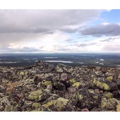 Hiking trip in Levitunturi. Lapland, Finland