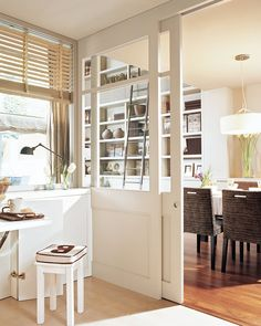 Trendy Home Plans Cottage Kitchens Ideas Small Apartment Interior, Interior Design Living Room, Glass Barn Doors, Cottage Kitchens, Diy Furniture Plans, Cuisines Design, Trendy Home, Bars For Home, Home Remodeling