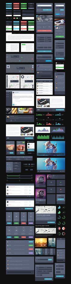 UI Kit Dark / Creativedash