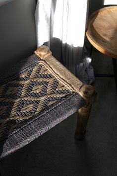 Bedroom inspiration. The Woven Footstool.