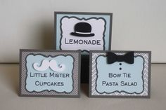 Little Man Food Labels - Baby Shower or First Birthday, mustache, bow tie, and bowler hat, set of 6 by JillyBearDesigns on Etsy https://www.etsy.com/listing/241255857/little-man-food-labels-baby-shower-or