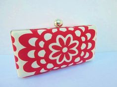 clutch purse/Amy Butler clutch/red clutch by VincentVdesigns, $48.00