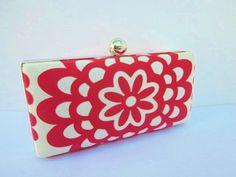 clutch purse/Amy Butler clutch/red clutch by VincentVdesigns, $48.00
