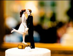 cake topper for a short girl... Or just a really tall guy.