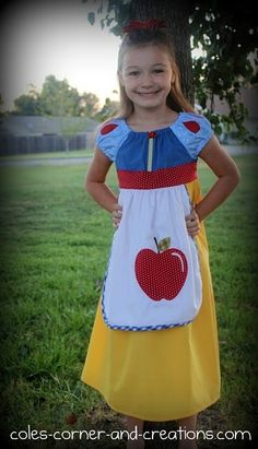 I'm not crazy about the apron in front, but I like the idea of the peasant dress for a Snow White dress.