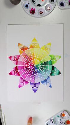 Watercolor Mandala, Watercolor Tips, Mandala Drawing, Mandala Art, Watercolor Illustration, Watercolor Paintings, Abstract Paintings, Oil Paintings, Painting Art