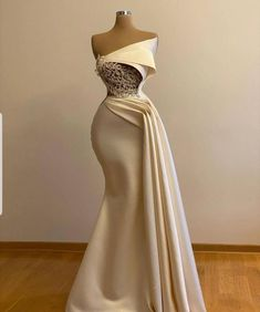 Off shoulder ivory prom dress with cape wedding gownbridal | Etsy Ivory Prom Dresses, African Prom Dresses, African Wedding Dress, Gala Dresses, Event Dresses, African Fashion Dresses, Bridal Dresses, Dresses With Capes, Fancy Prom Dresses