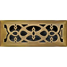 Accord 10 x 30cm Antique Brass Victorian Floor Vent | Bunnings Warehouse