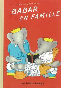Babar en famille, edição moderna que reproduz a 1.ª edição, de 1935, com cores mais quentes que as posteriores