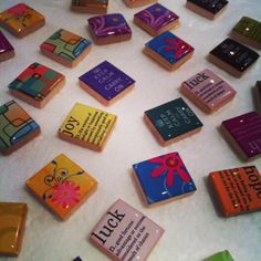 Scrabble pendants made with Easy Cast resin