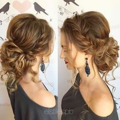 summer wedding hairstyles for medium length hair - Wedding dresses -. - Over 50 summer wedding hairstyles for medium length hair - hair Medium Long Hair, Medium Hair Styles, Curly Hair Styles, Curly Updos For Medium Hair, Updo For Long Hair, Updos For Curly Hair, Medium Length Hair Updos, Up Dos For Medium Hair, Formal Hairstyles For Long Hair