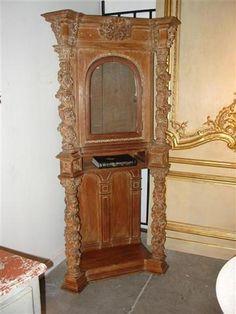 Ruby Lane: cabinete estilo relicario europeo de principios de 1800's