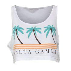 .@Adam Block Design | Survive the heat in this Delta Gamma Palm Tree Crop Tank by ABD