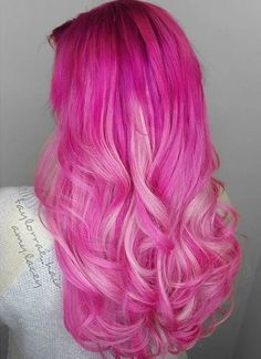 Lace Frontal Wigs Pink Hair Blonde And Pink Ombre Hair For Girl – wigbaba Blonde Ombre Hair, Blue Hair, Bold Hair Color, Ombre Hair Color, Hair Colors, Blue Ombre, My Hairstyle, Wig Hairstyles, Stylish Short Hair