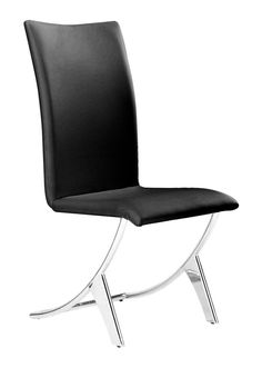 Zuo Modern Delfin Dining Chair  in Black (Set of 2)