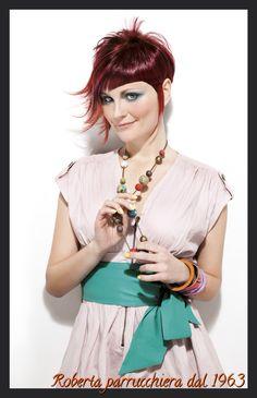 Wella professional. Red hair. Short hair Spring hair. www.parrucchieraroberta.it
