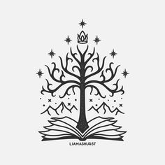 Had the pleasure of doing this (not so) White Tree of Gondor design for a tattoo commission. Forever grateful I get to work on these nerdy… Tolkien Tattoo, Lotr Tattoo, Baum Von Gondor, Tree Of Gondor Tattoo, White Tree Of Gondor, Lord Of The Rings Tattoo, Gravure Laser, Embroidery Tattoo, Embroidery Transfers