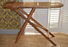 A Vintage Wooden Ironing Board, shabby chic, Prop, display. by bespokebydionne on Etsy