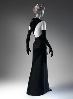 Charles James Evening dress - American 1947 Silk (back view)