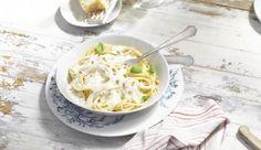 Einen sahnigen Genuss bieten leckere Spaghetti alla Carbonara.
