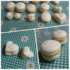 Macaroons with lemon curd filling!