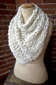 Knit Collage Cast Away Bandana Cowl Knitting Pattern PDF