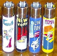 Clipper classic international cities refillable lighters full set lot of 4 new    $9.99 usd