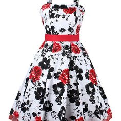 Floral Halter Backless Sleeveless Belted Sheath Midi Skater Dress