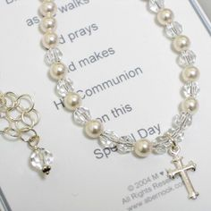 Communion Necklace-a special gift idea for a First Holy Communion.