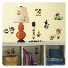 Your child will go ba-na-nas for the Roommates Minions The Movie Peel and Stick Wall Decals ! These easy stick-on, peel-off decals make decorating. Bedroom Stickers, Wall Stickers Minions, Disney Wall Decals, Kids Wall Decals, Mickey Mouse Classic Cartoons, Stickers Papillon, Minion Characters, Movie Characters, Wall Art