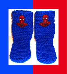 Children's+Socks+Handcrafted+Socks+With+Superhero+by+ArtisticFunk,+$25.00