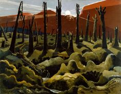 """""""We Are Making a New World"""" was painted by Paul Nash in The setting in this painting is Inverness Copse, which was the scene of German resistance during the British offensive in the summer of Paul Nash was commissioned as an official war artist. Inverness, World War One, First World, Elizabeth Forbes, Ww1 Art, National Gallery, Google Art Project, English Artists, British Artists"""