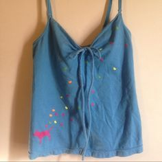 Blue Victoria Secret tank Blue adjustable strap Victoria Secret tank with built-in bra Victoria's Secret Tops Camisoles