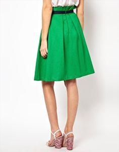 Enlarge ASOS Midi Skirt in Texture